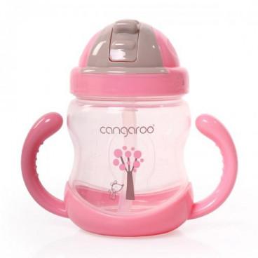 Cangaroo Εκπαιδευτικό Ποτηράκι Με Χερούλια 280Ml Boo Pink 3800146263416