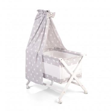 Cangaroo Λίκνο Cassy Baby Grey White Stars 3800146247553