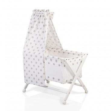 Cangaroo Λίκνο Cassy Baby White Grey Stars 3800146247669