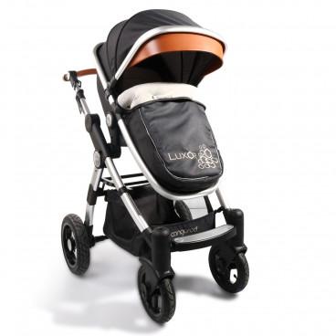 Cangaroo Καρότσι 2-1 Inflatable Wheels Luxor Black 3800146234546