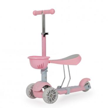 Moni Scooter 3 Σε 1 Bubblegum Pink 3800146225971