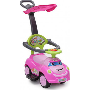 Cangaroo Περπατούρα Αυτοκινητάκι Ride On Car Smile Pink 3800146241407