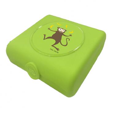 Carl Oscar Δοχείο Φαγητού Sandwich Box Lime Monkey 107401