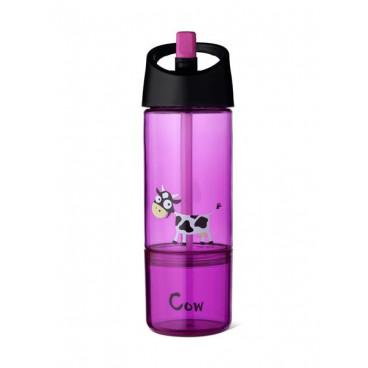 Carl Oscar Δοχείο Νερού Και Φαγητού 2 Σε 1 Cow Purple 106002
