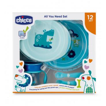 Chicco Σετ Φαγητού 12m+ Blue 16201-20