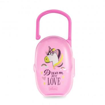 Chicco Μονή Θήκη Πιπίλας Fantastic Love Special Edition Pink 09856-00