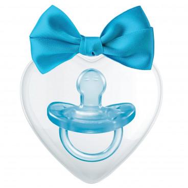 Chicco Πιπίλα Όλο Σιλικόνη Physio Soft 0-6m+ Fantastic Love Special Edition Blue 09852-00