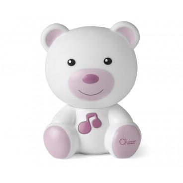 Chicco Φωτάκι Νυκτός Αρκουδάκι Με Μελωδία Pink 09830-10