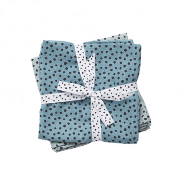 Done By Deer Πάνα Aγκαλιάς Happy Dots Σετ 2 Tμχ 70 x 70 cm Blue BR72990