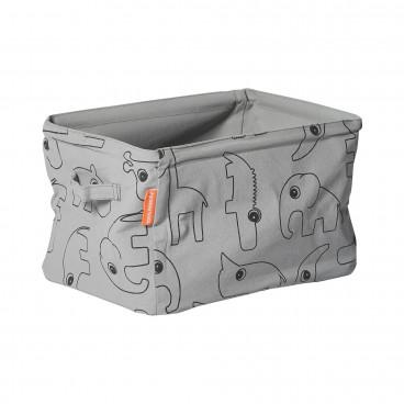 Done By Deer Μαλακό Kουτί Aποθήκευσης Διπλής Όψης Grey BR72014