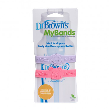 Dr Brown's My Bands Ροζ-Μωβ AC022