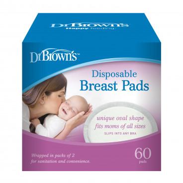 Dr Brown's Επιθέματα Στήθους Μίας Χρήσης 60τμχ. S4021