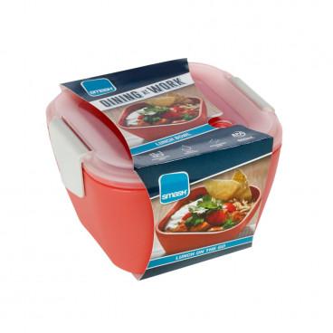 Ecolife Πλαστικό Φαγητοδοχείο Smash 950ml Bowl Coral 33SMA4549