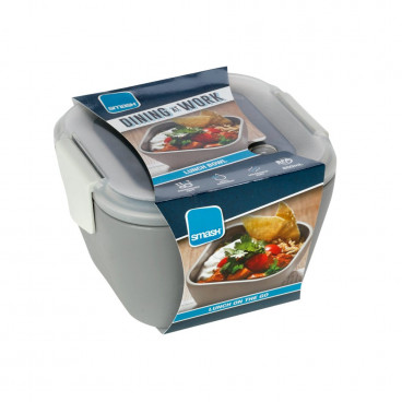 Ecolife Πλαστικό Φαγητοδοχείο Smash 950ml Bowl Grey 33SMA4547