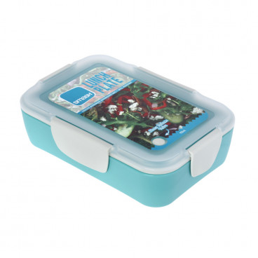 Ecolife Πλαστικό Φαγητοδοχείο Smash 950ml Plate Turquoise 33SMA4487