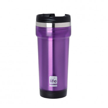 Ecolife Coffee Cup 420ml Purple 33-BO-4011