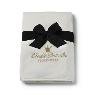 f2f70424d89 Elodie Details Κουβέρτα Pearl Velvet Vanilla White BR72287