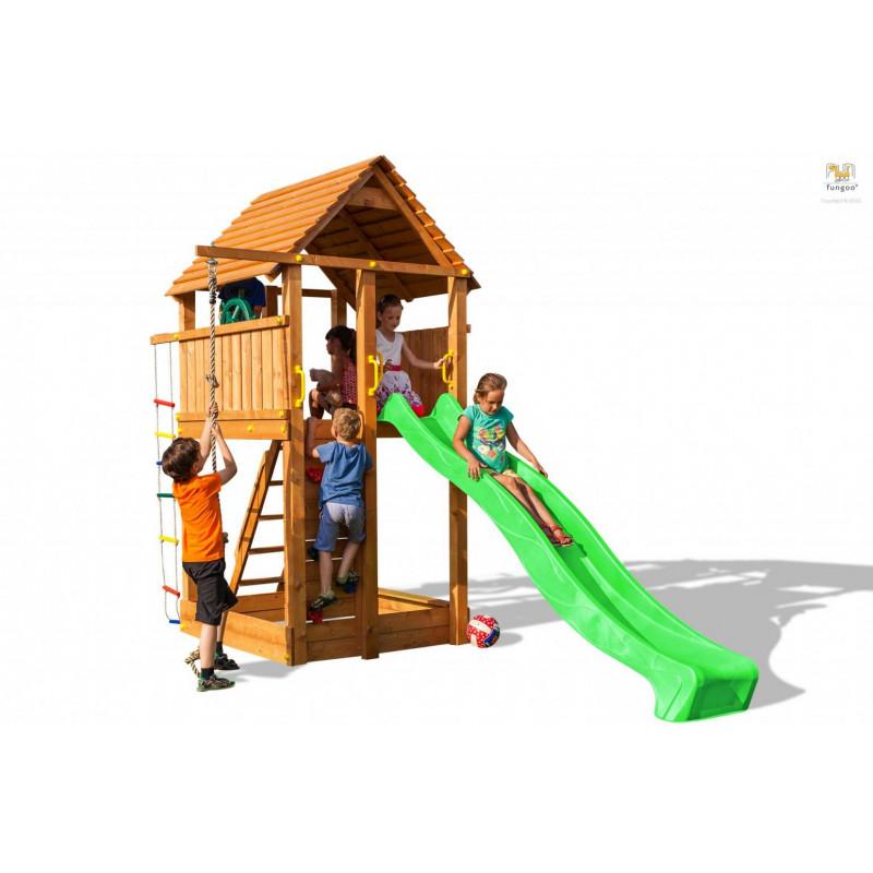 Fungoo Ξύλινη Παιδική Χαρά Fortress Με Τσουλήθρα 03160