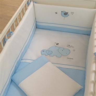 Funna Baby Σεντόνια Hippo Σετ 3 Τμχ. 6014