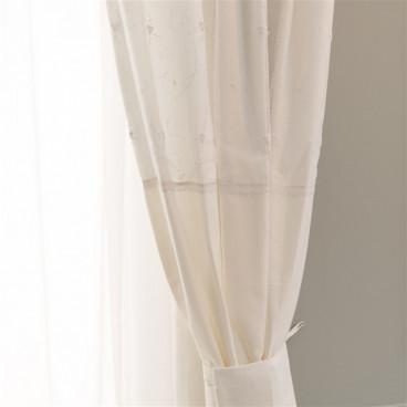 Funna Baby Κουρτίνα Με Δέστρα Premium White 5321