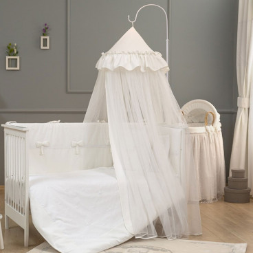 Funna Baby Κουνουπιέρα Θόλος Romantica Premium White 5334
