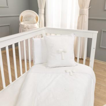 Funna Baby Σεντόνια Premium White Σετ 3 Τμχ. 5303
