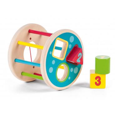 Gerardo's Toys Ξύλινος Κύλινδρος Με Σχήματα GΤ61009