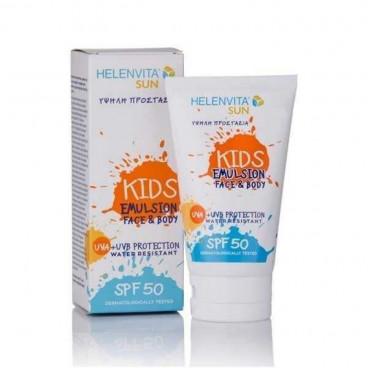 Helenvita Baby Αδιάβροχο Αντηλιακό Γαλάκτωμα Kids SPF 50 Face & Body 5213000521924