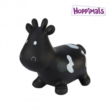 Hoppimals Φουσκωτό Ζωάκι Αγελάδα Μαύρη TFF-NN139