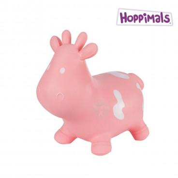 Hoppimals Φουσκωτό Ζωάκι Αγελάδα Ροζ TFF-NN138