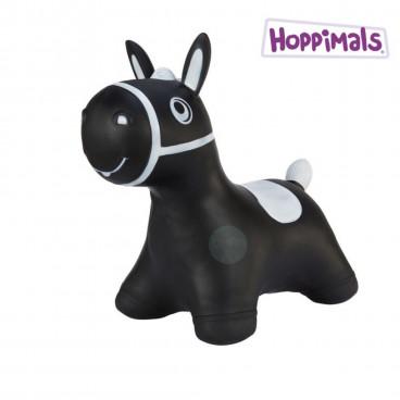 Hoppimals Φουσκωτό Ζωάκι Αλογάκι Μαύρο TFF-NN185