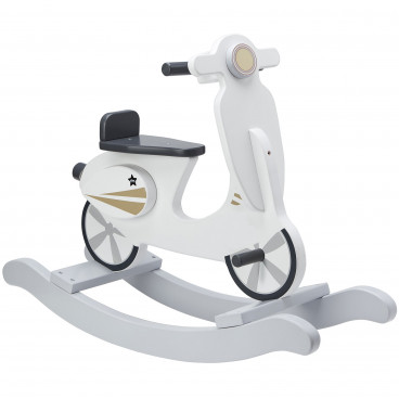 Kid's Concept Κουνιστό Scooter Grey White KC1000160