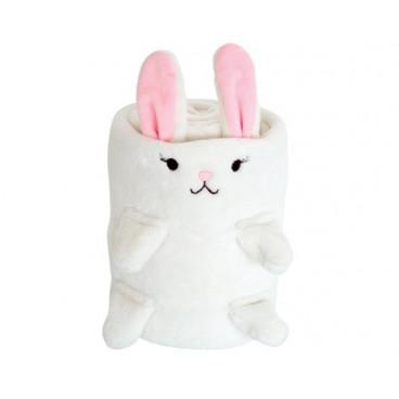 Kikkaboo Κουβέρτα Αγκαλιάς Flannel Fleece 75/100 cm 3D Rabbit Ivory 31103020019