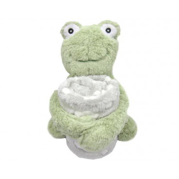 Kikkaboo Κουβέρτα Αγκαλιάς 70/100 cm Με Παιχνίδι Froggy Green 31103020041