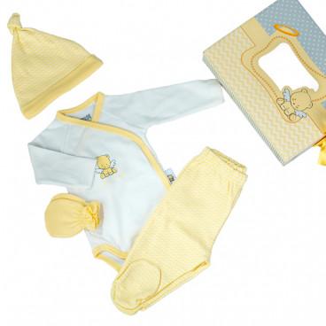 Kikkaboo Σετ 4 Τμχ. Ρουχαλάκια 0-3 Μηνών Little Angel 31101010001