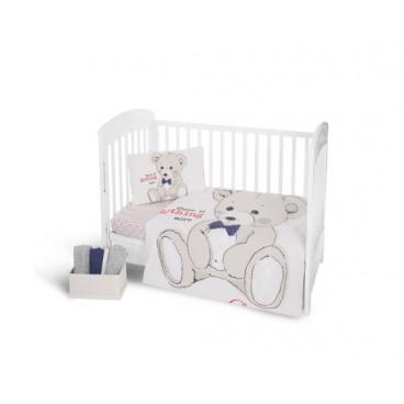 Kikkaboo Σετ Προίκας Μωρού Για Κούνια 3 Τμχ. Teddy Bear 41101030005