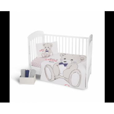 Kikkaboo Σετ Προίκας Μωρού Για Κούνια 5 Τμχ. Teddy Bear 41101050015