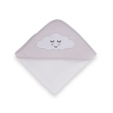 Kikkaboo Πετσέτα Κάπα 80/80 Sleepy Cloud Grey 31104010022