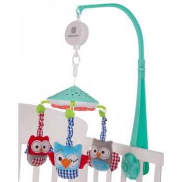 Kikkaboo Μουσικό Περιστρεφόμενο Mobile Projector Owls Green 31201010142