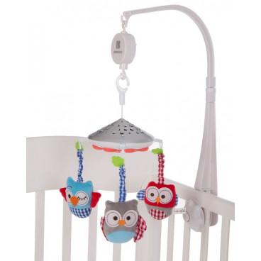 Kikkaboo Μουσικό Περιστρεφόμενο Mobile Projector Owls White 31201010141