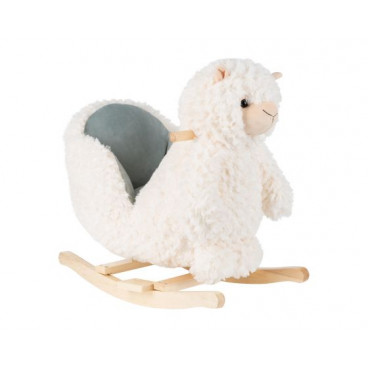 Kikkaboo Κουνιστό Ξύλινο Lama White 31201040003