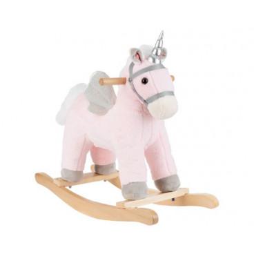 Kikkaboo Κουνιστό Ξύλινο Με Ήχο Horse Pink 31201040006