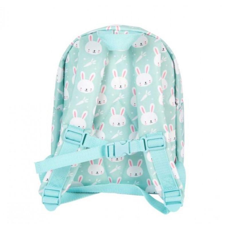 1ed2c1b602 A Little Lovely Mini Παιδική Τσάντα Πλάτης Blue Rabbits BPRAMI16