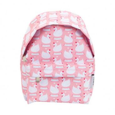 A Little Lovely Mini Παιδική Τσάντα Πλάτης Pink Swans BPSWPI15