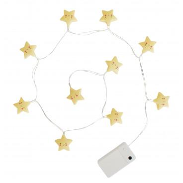 A Little Lovely Διακοσμητικά Φωτάκια Stars Yellow LTST050