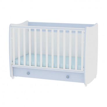 Lorelli Κρεβάτι Dream 60 x 120 Μετατρεπόμενο White Blue 10150420022A