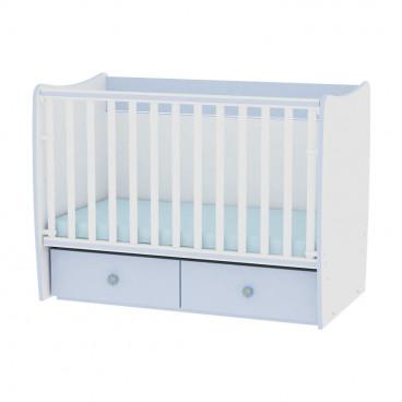 Lorelli Κρεβάτι Matrix Μετατρεπόμενο White Blue 10150490022A