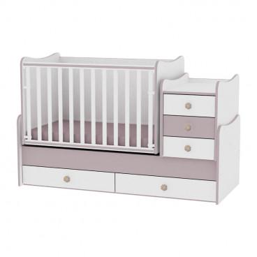 Lorelli Κρεβάτι Maxi Plus Μετατρεπόμενο White Cappuccino 10150300025A