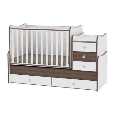 Lorelli Κρεβάτι Maxi Plus Μετατρεπόμενο White Walnut 10150300026A