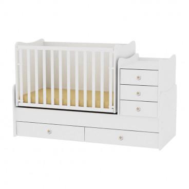 Lorelli Κρεβάτι Maxi Plus Μετατρεπόμενο White 10150300024A